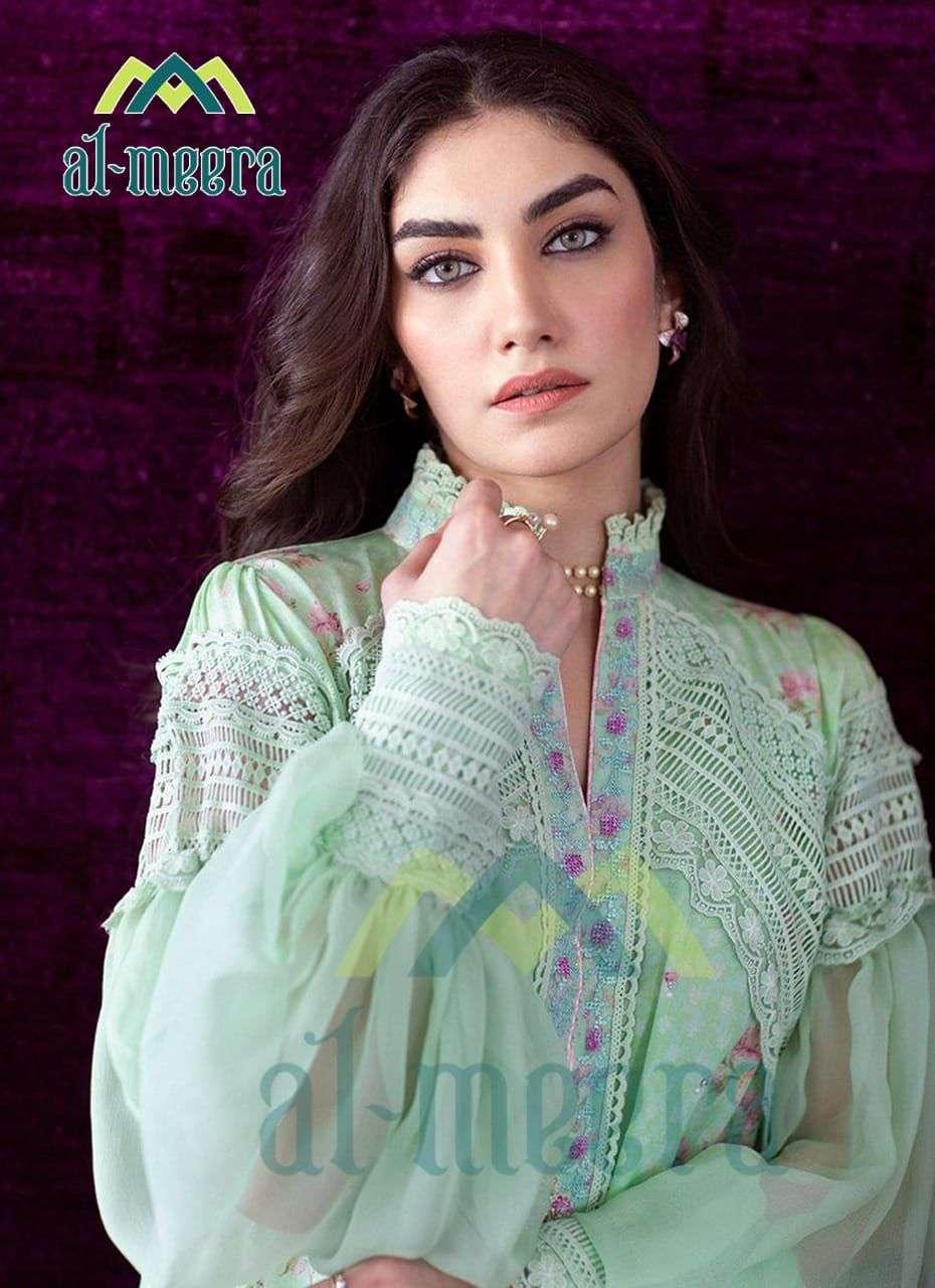 Queen Studio Al Meera 1130 Fancy Stylish Kurti With Bottom In Wholesale