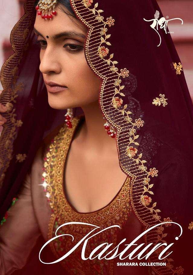 Radha trends kasturi Exclusive party Wear Sharara Dress catalog Supplier