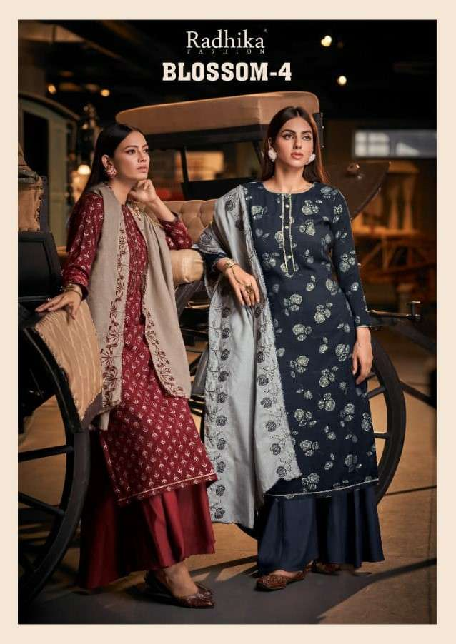 Radhika Azara Blossom Vol 4 Cotton Foil Print Salwar Kameez Dealer