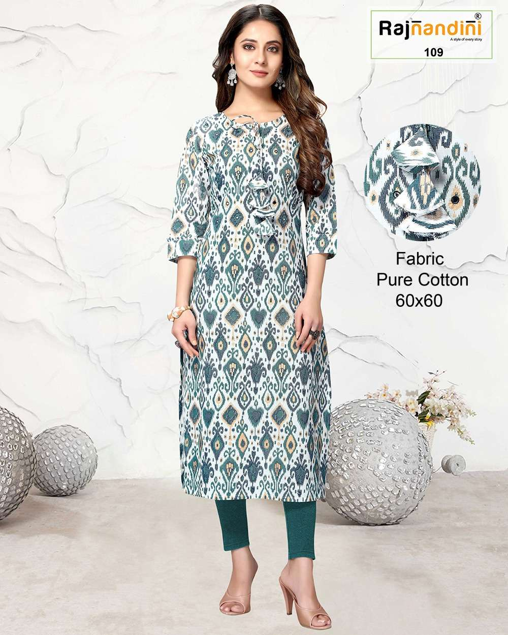 Rajnandini Vol B Fancy Printed Cotton Kurti Catalog Wholesaler