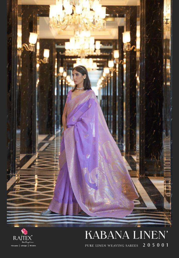 Rajtex Cabana Linen Exclusive Linen Weaving Saree Catalog Wholesale Supplier