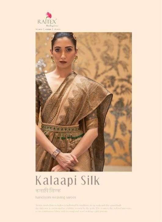 Rajtex Kalaapi Silk Exclusive Fancy Silk Saree Catalog Wholesale Supplier