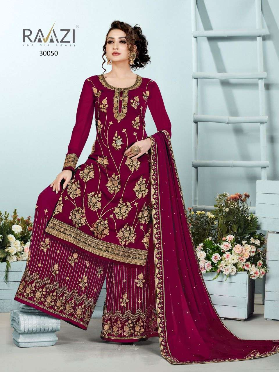 Rama fashion Dilbaro Vol 4 Plazzo Style Salwar kameez New Catalog at Best Rate