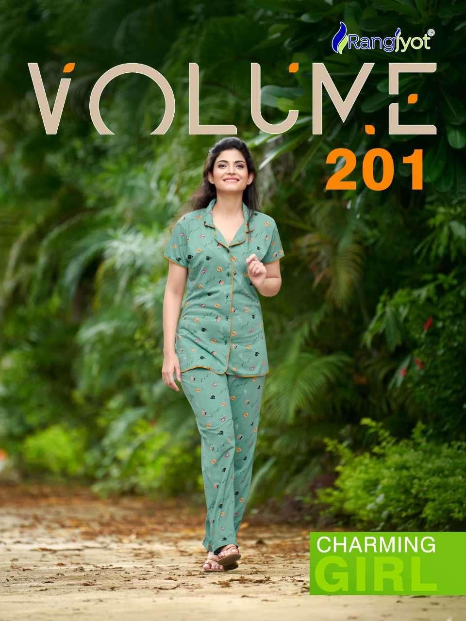 Rangjyot Vol 201 Hosiery Cotton Nightwear For Ladies