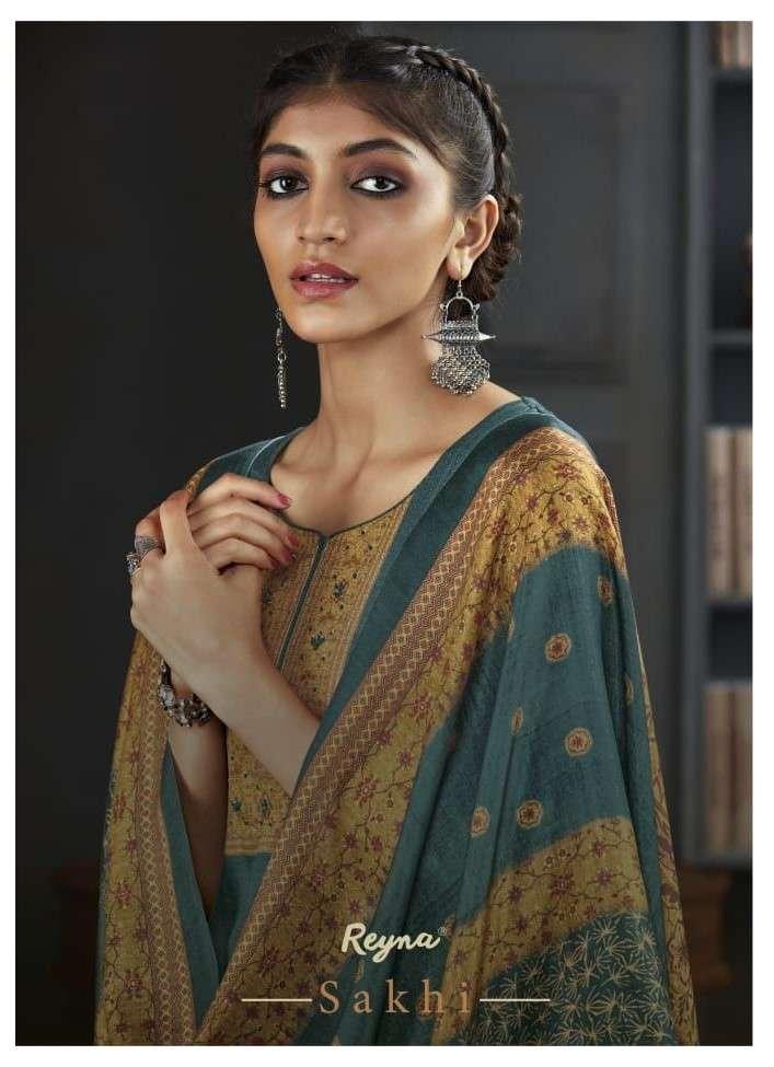 Reyna Fabrics Sakhi Viscose Pashmina Salwar Suit For Ladies in Wholesale