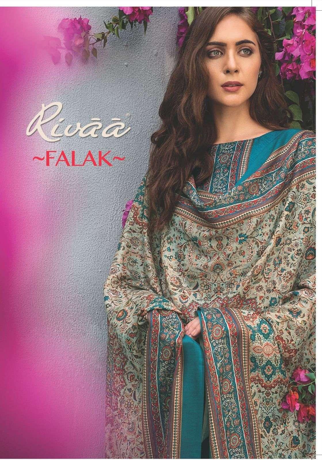 Rivaa Falak Exclusive Fancy pashmina Salwar Kameez Catalog Dealer in Surat
