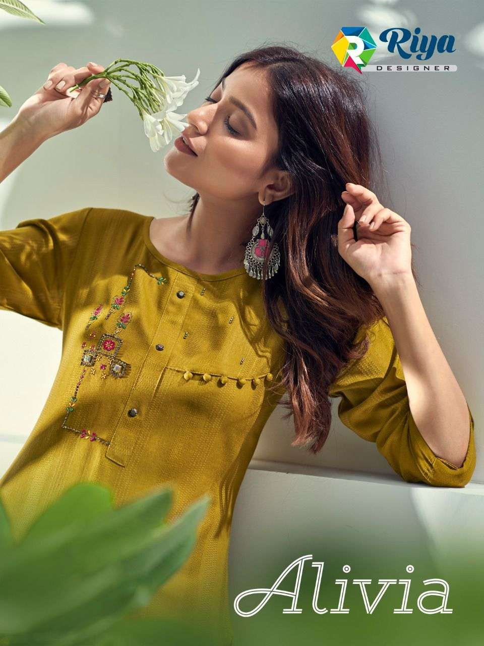 Riya Designer Alivia Fancy Rayon Kurti Catalog Buy Online