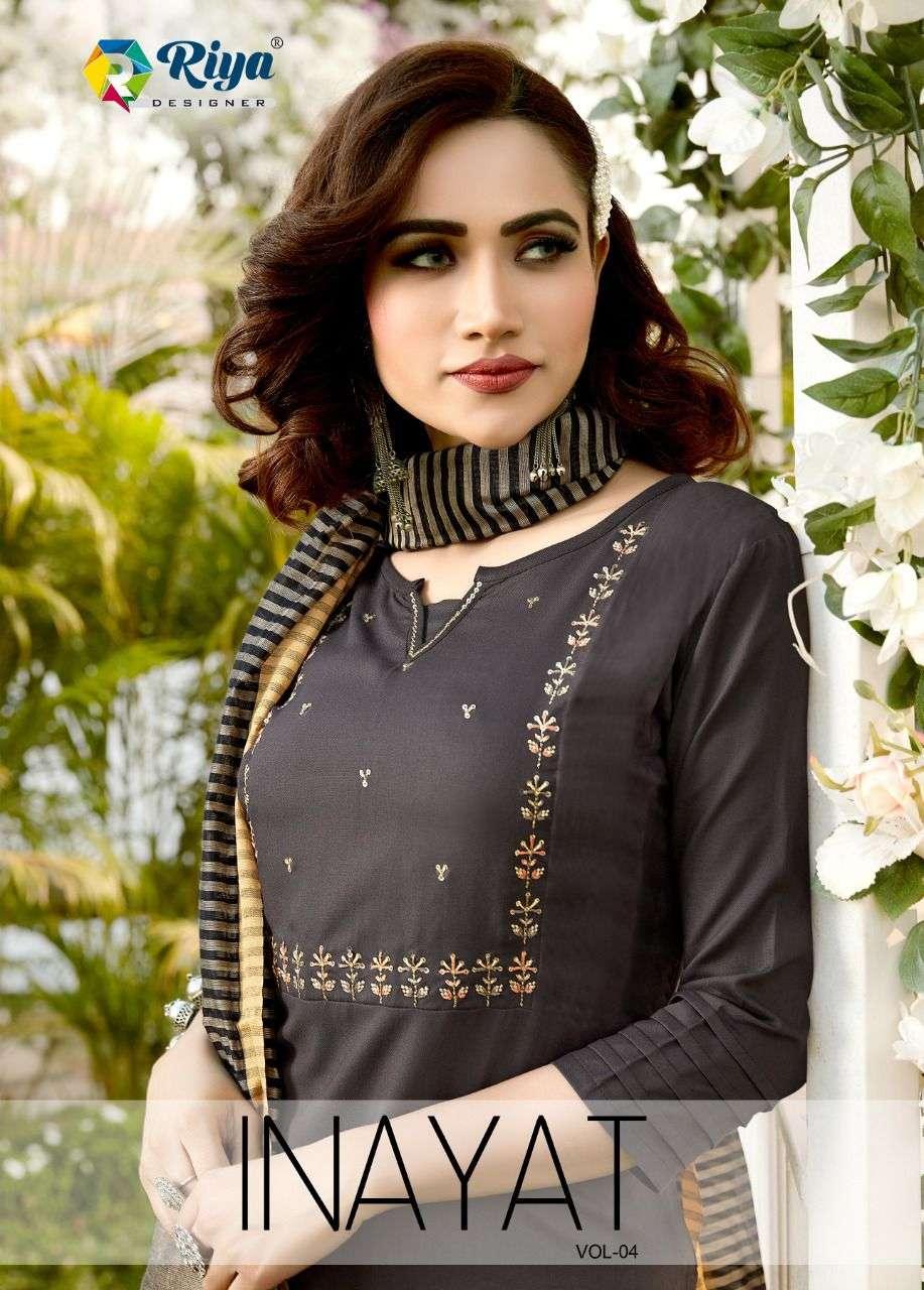 Riya Designer Inayat Vol 4 Exclusive Fancy Rayon Kurti Dupatta Set Collection
