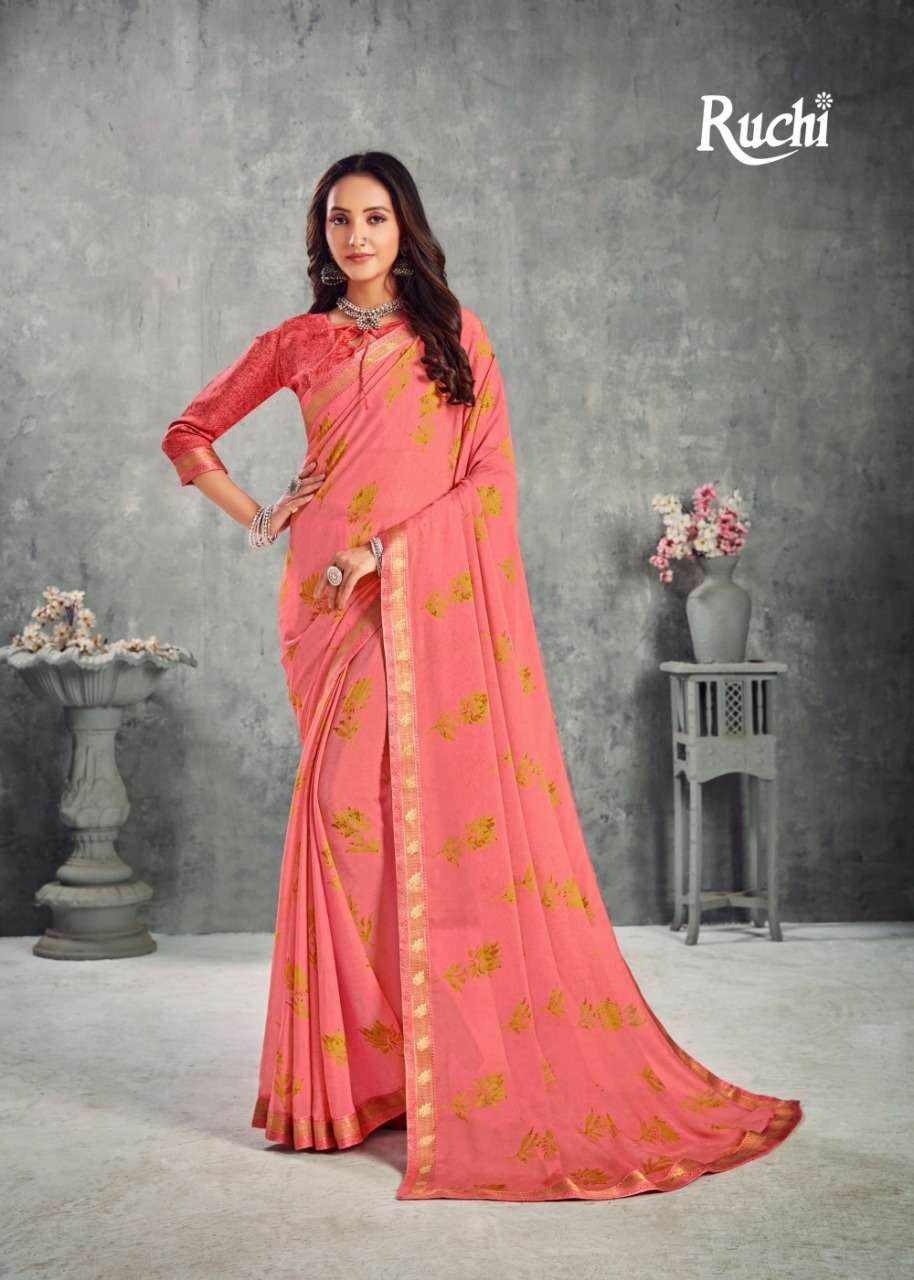 Ruchi Chandni Printed Saree Catalog Wholesale Price in Surat