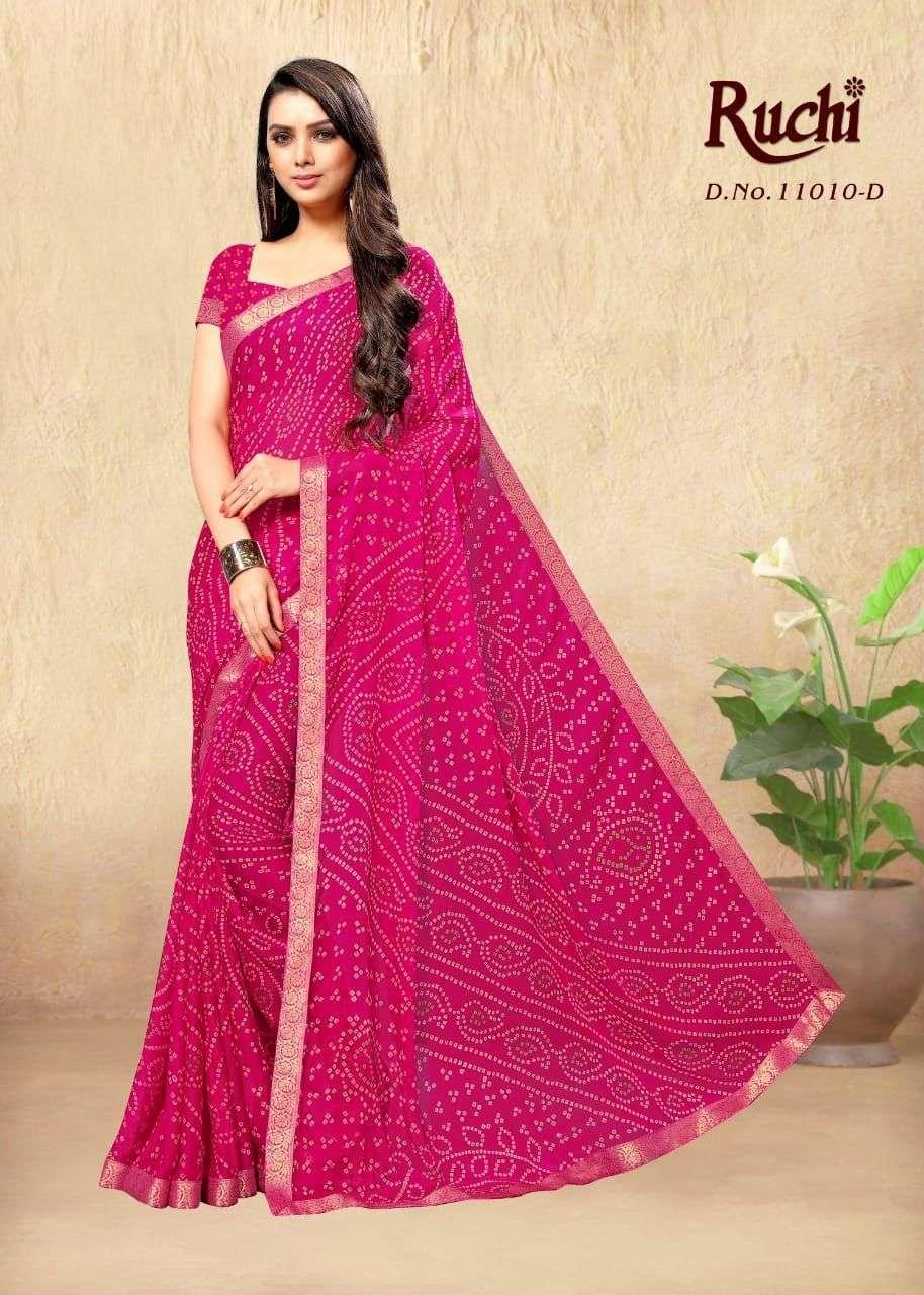 Ruchi Jhanvi Vol 6 Printed Georgette Saree catalog Dealer in Surat