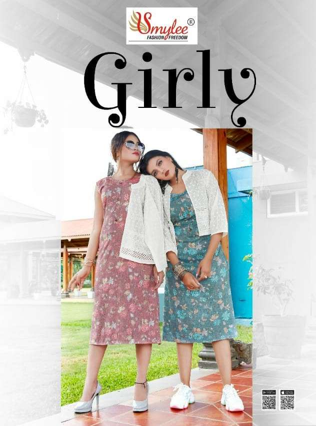 Rung Girly Fancy Rayon Kurti With jacket New Catalog Wholesaler