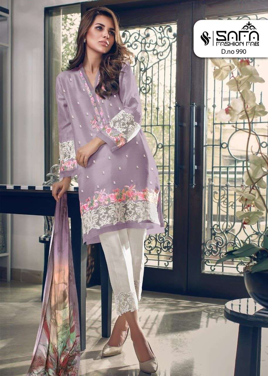 Safa fashion Fab SF 990 Exclusive Pakistani Concept Ready to Wear New Collection