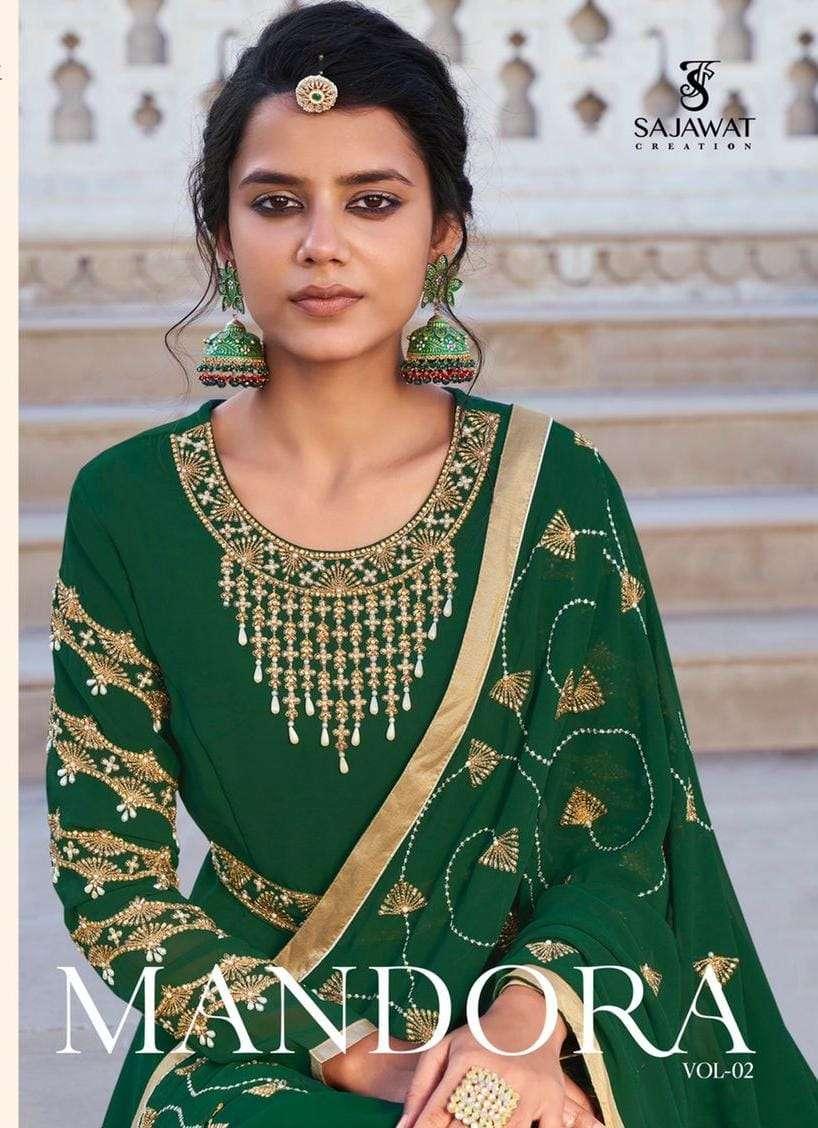 Sajawat Mandora Vol 2 Exclusive Readymade Anarkali Dress Catalog Supplier
