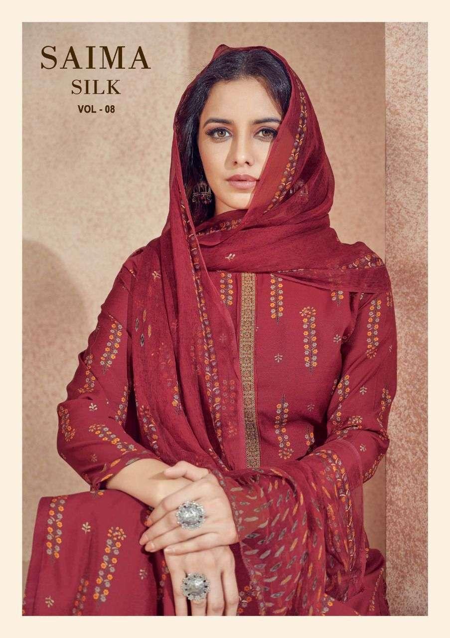Salvi Fashion Saima Silk Vol 8 Cotton Silk Salwar Suit Dealer