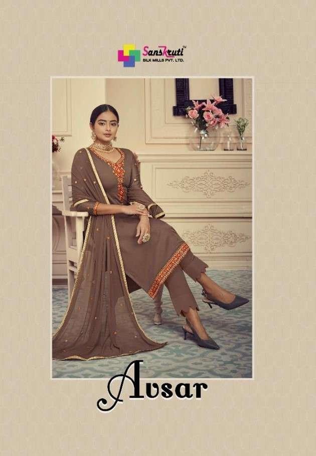 Sanskruti Avsar Exclusive Jam Silk Salwar Suit Catalog New Designs