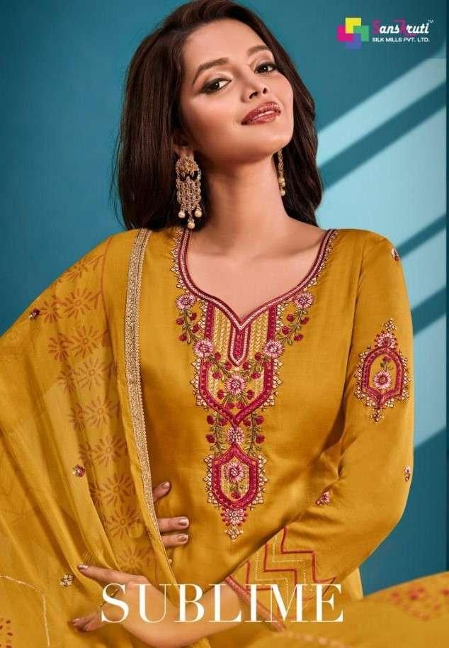 Sanskruti Sublime Jam Silk Salwar Suit Catalog Wholesale Price