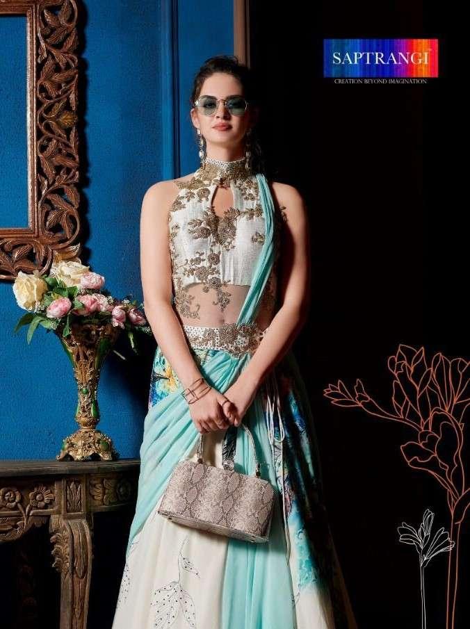 Saptrangi 1501 to 1506 Series Designer Readymade drape Style Gown Catalog Supplier