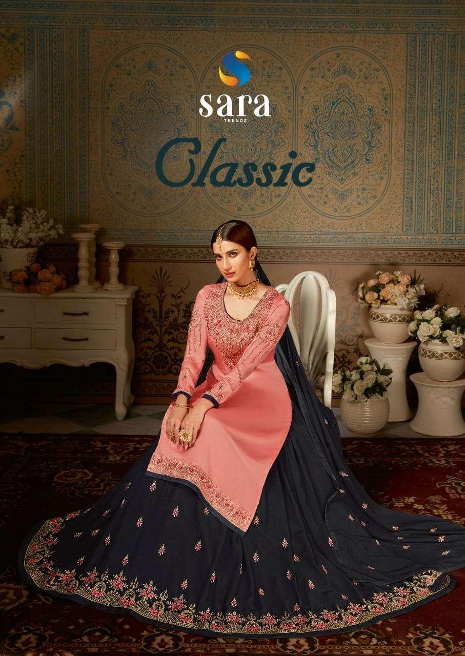 Sara Trends Classic Exclusive Georgette Lehenga Style Salwar Suit Catalog Wholesaler