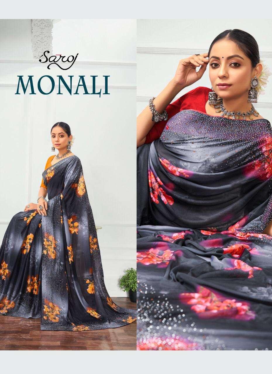 Saroj Monali Lycra Digital Printed Saree Wholesaler