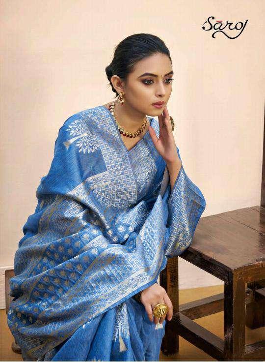 Saroj Nasheen Vol 2 Cotton Linen Silk Saree Catalog Online