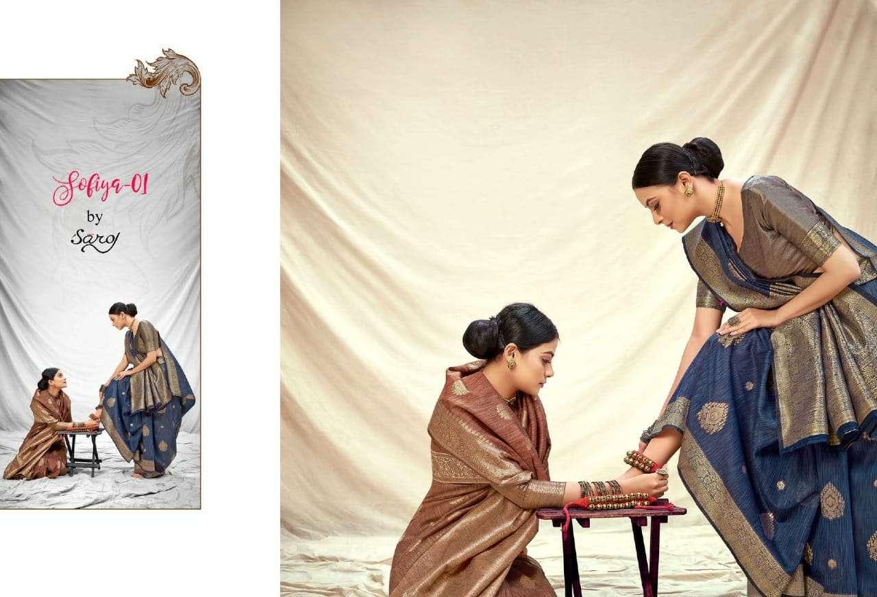 Saroj Sarees Sofia Banarasi Silk Saree Catalogue Online Dealer