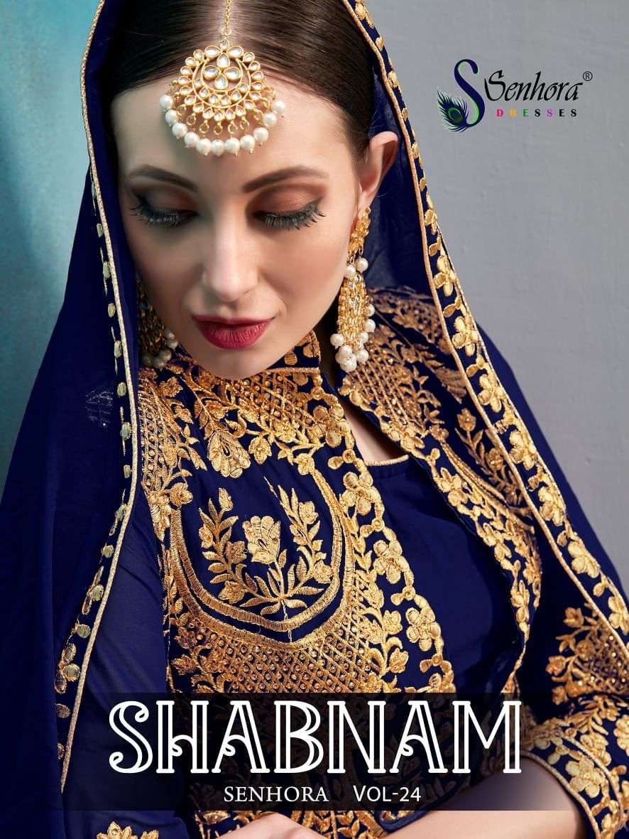Senhora Shabnam Designer Heavy Work Party Wear Dress Catalog Dealer