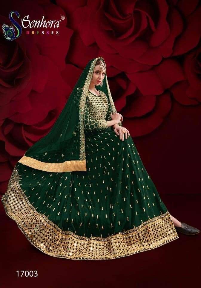Senhora Vol 17 Agha Noor 17003 Colors Designer Anarkali Suit Catalog Supplier