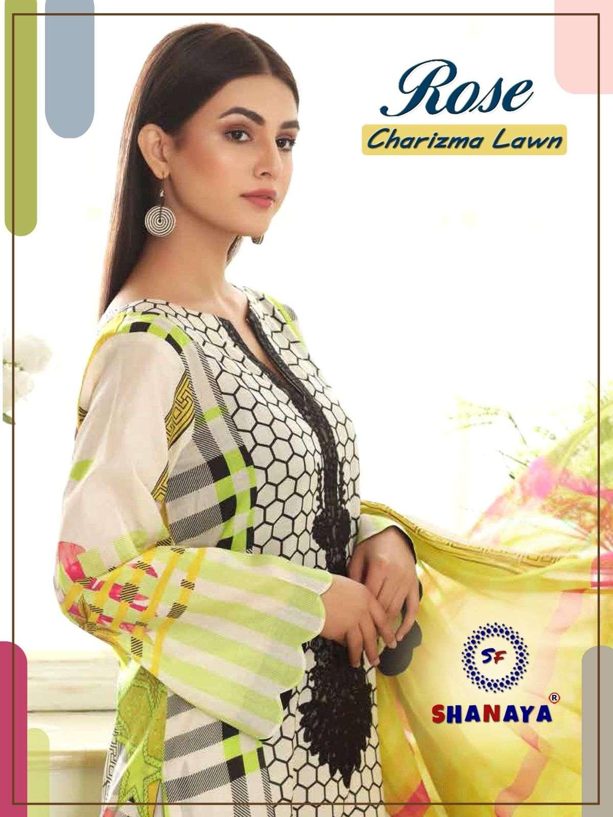 Shanaya Rose Charizma Lawn Exclusive Pakistani Suit catalog Supplier