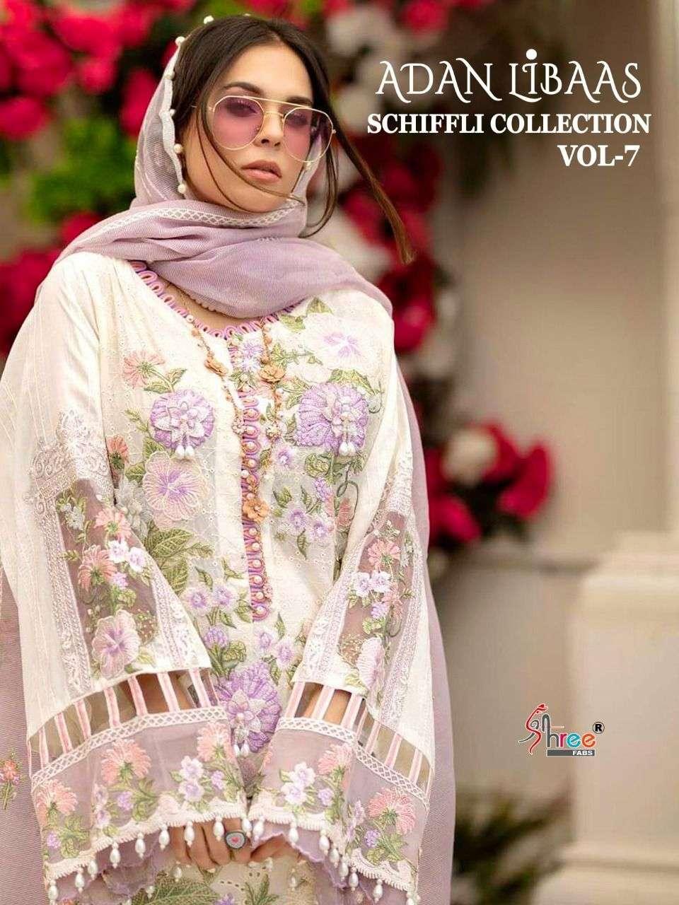 Shree Fabs Adan Libas Schiffli Collection Vol 7 Pakistani Suit Collection