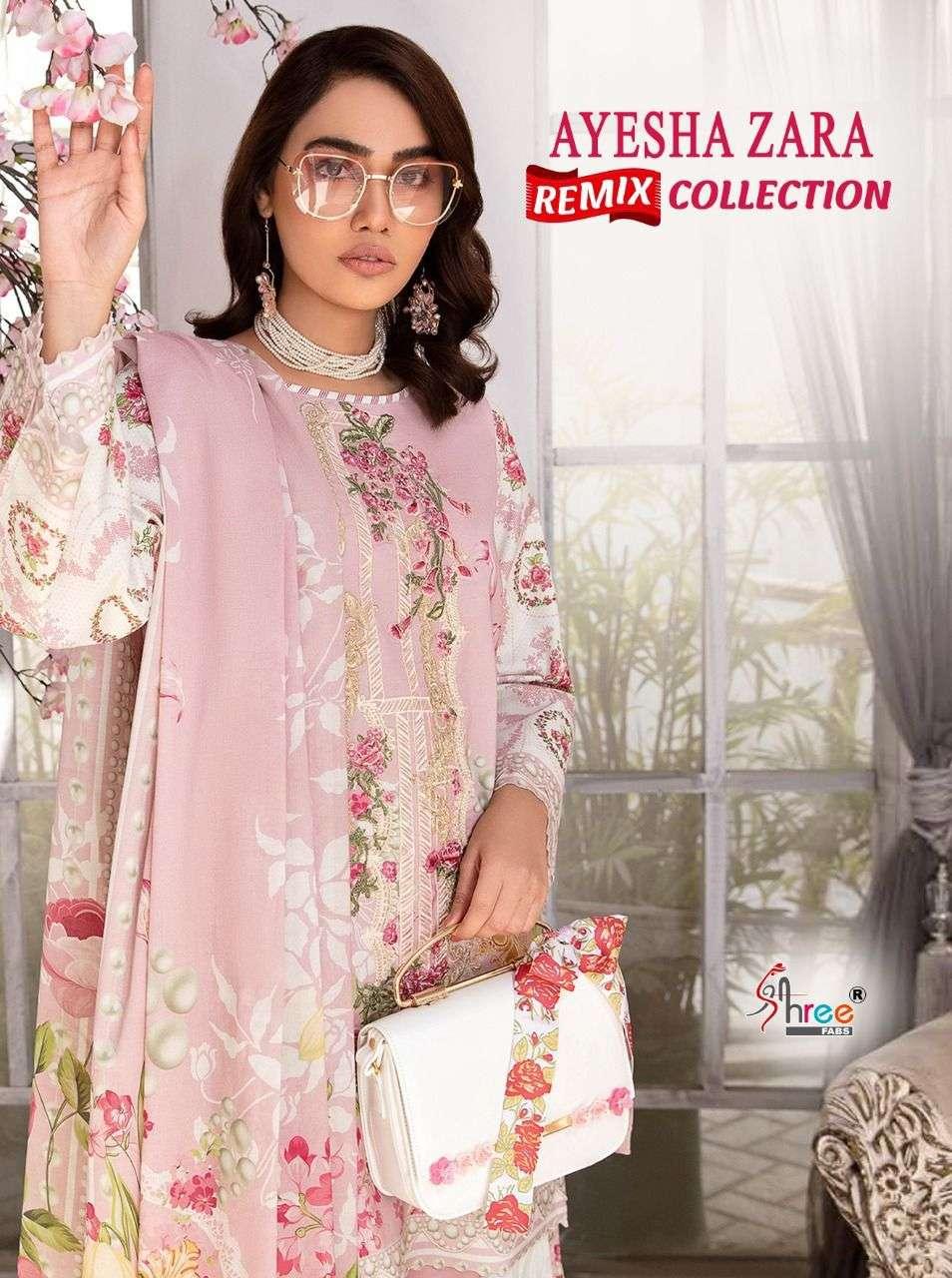 Shree Fabs Ayesha Zara Remix Collection Exclusive Pakistani Suit Catalog Buy Online