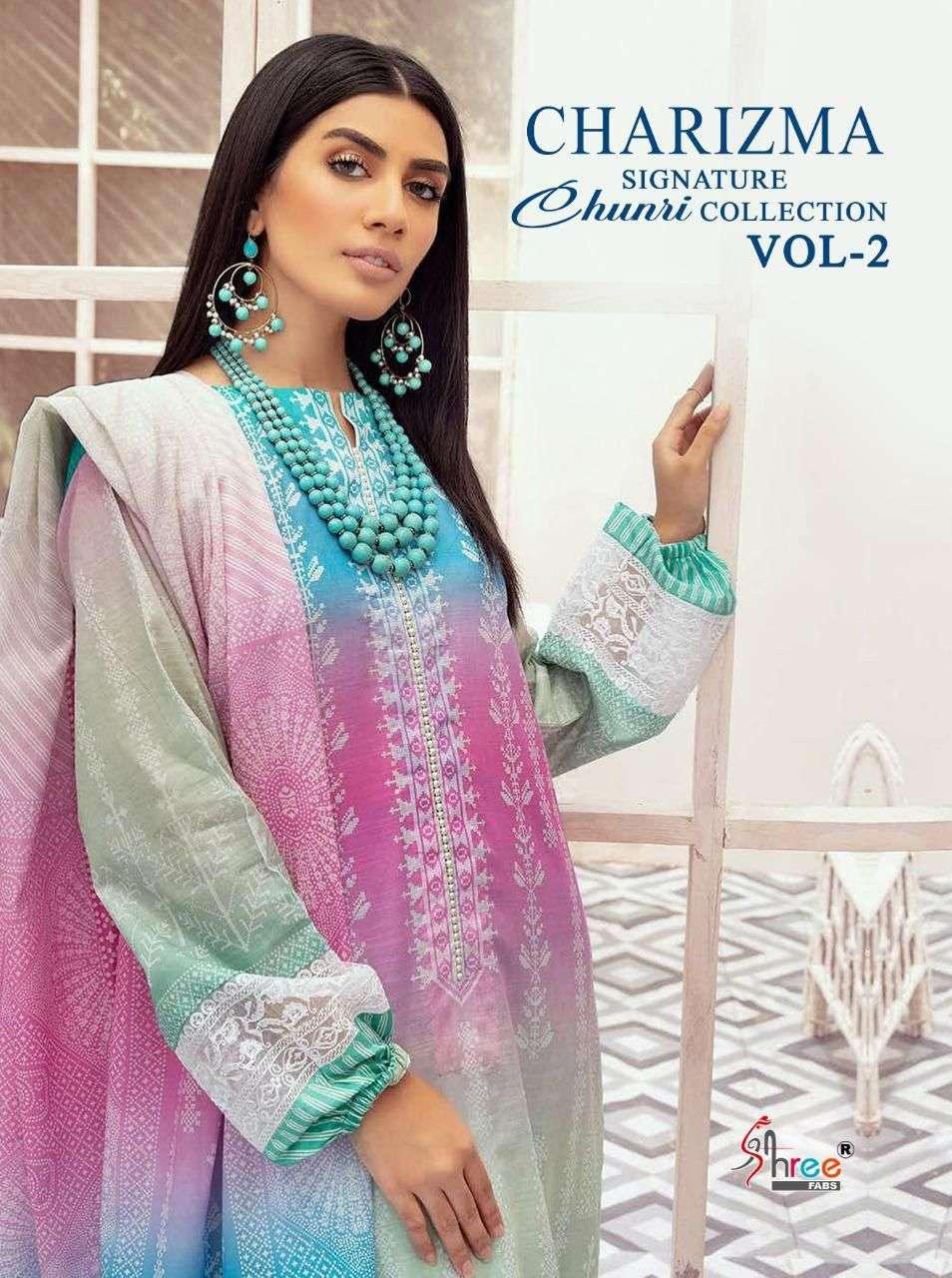 Shree Fabs Charizma Signature Chunri Collection Vol 2 Designer Pakistani Suit Designs