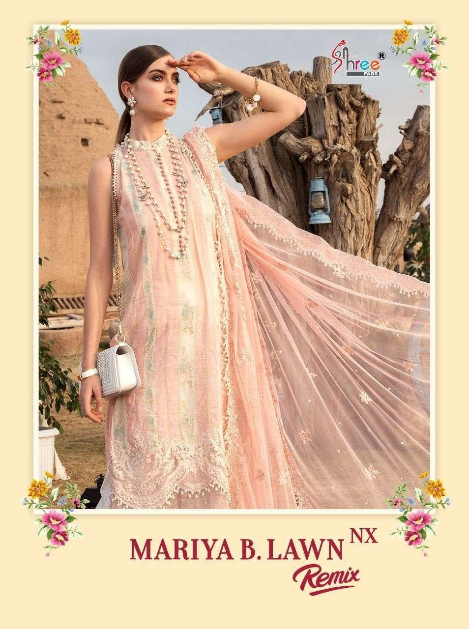 Shree Fabs Mariya B Lawn Remix NX Pakistani Suit Catalog Wholesaler