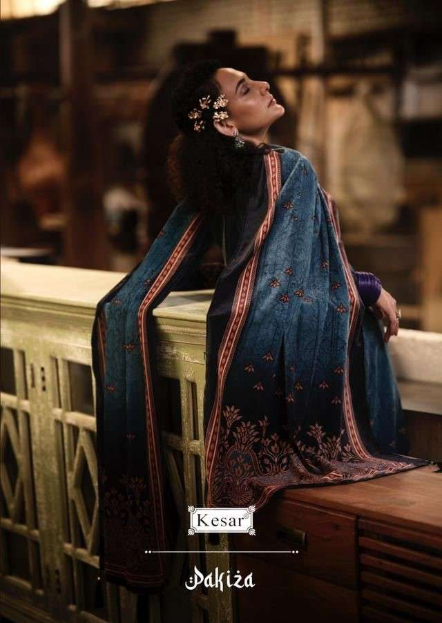 Shri Vijay Kesar pakiza Designer Print Velvet Salwar Suit Winter Collection 2021