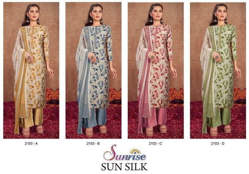 Sunjyoti Sun Silk Exclusive Cotton Silk Salwar Suit Catalog Wholesaler