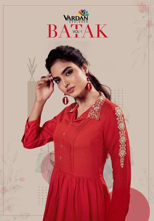 Vardan batak Vol 1 Rayon Short tops Catalog Wholesale Supplier