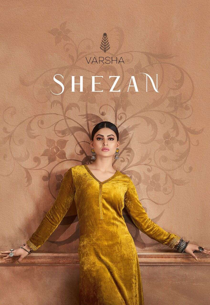 Varsha Fashion Shezan Exclusive Designer Velvet Suit Catalog Wholesaler