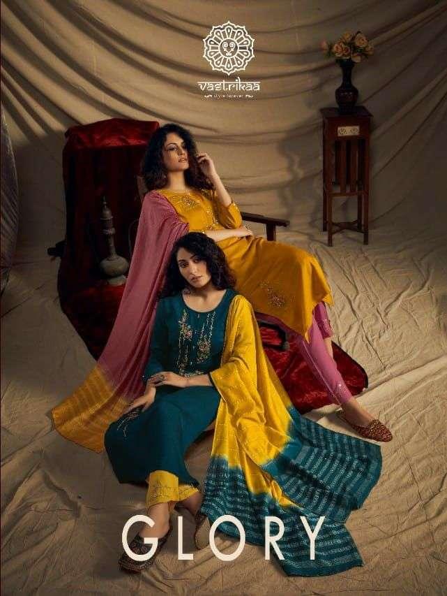 Vastrika Glory Designer Fancy Silk Readymade Suit Exporter