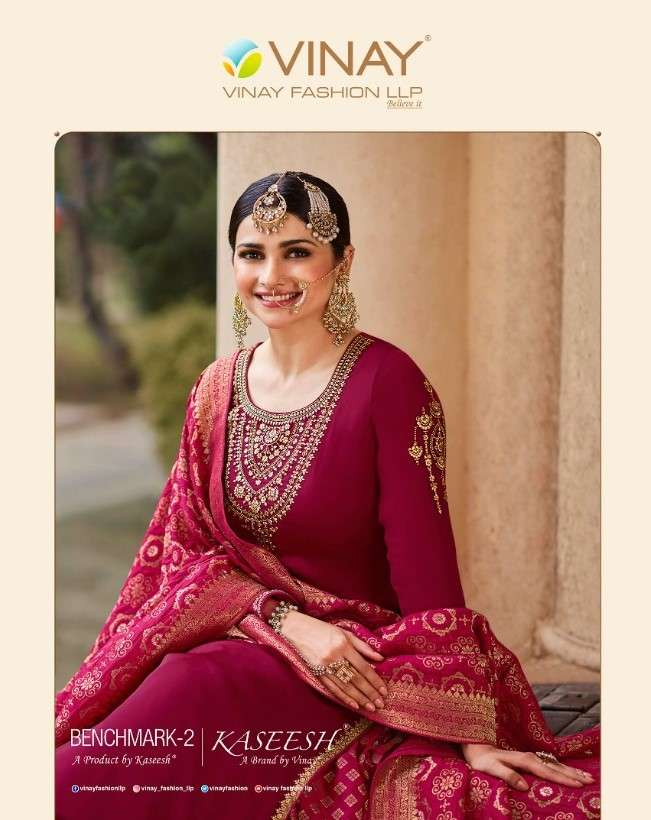 Vinay Fashion Kaseesh Benchmark Vol 2 Designer Lehenga Suit Catalog Wholesaler