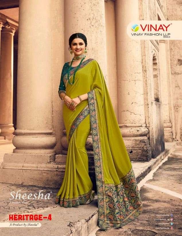 Vinay fashion Sheesha Heritage Vol 4 Designer Party Wear Saree Catalog Wholesaler