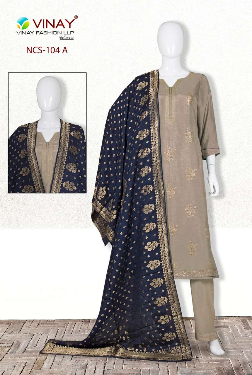 Vinay NCS 104 Pure Dola Partywear Fancy Suit In Wholesale