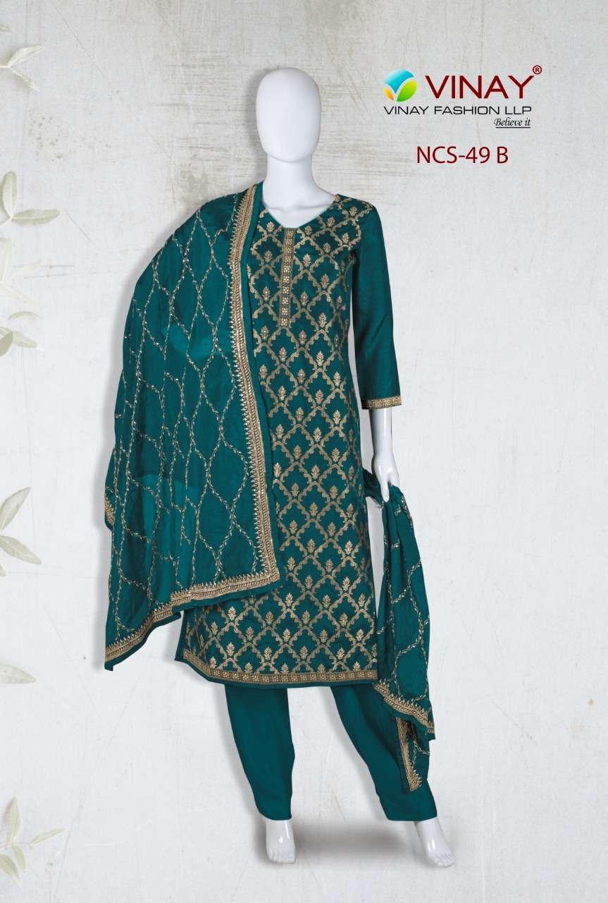 Vinay NCS 49 Partywear Fancy Salwar Kameez Wholesale Price