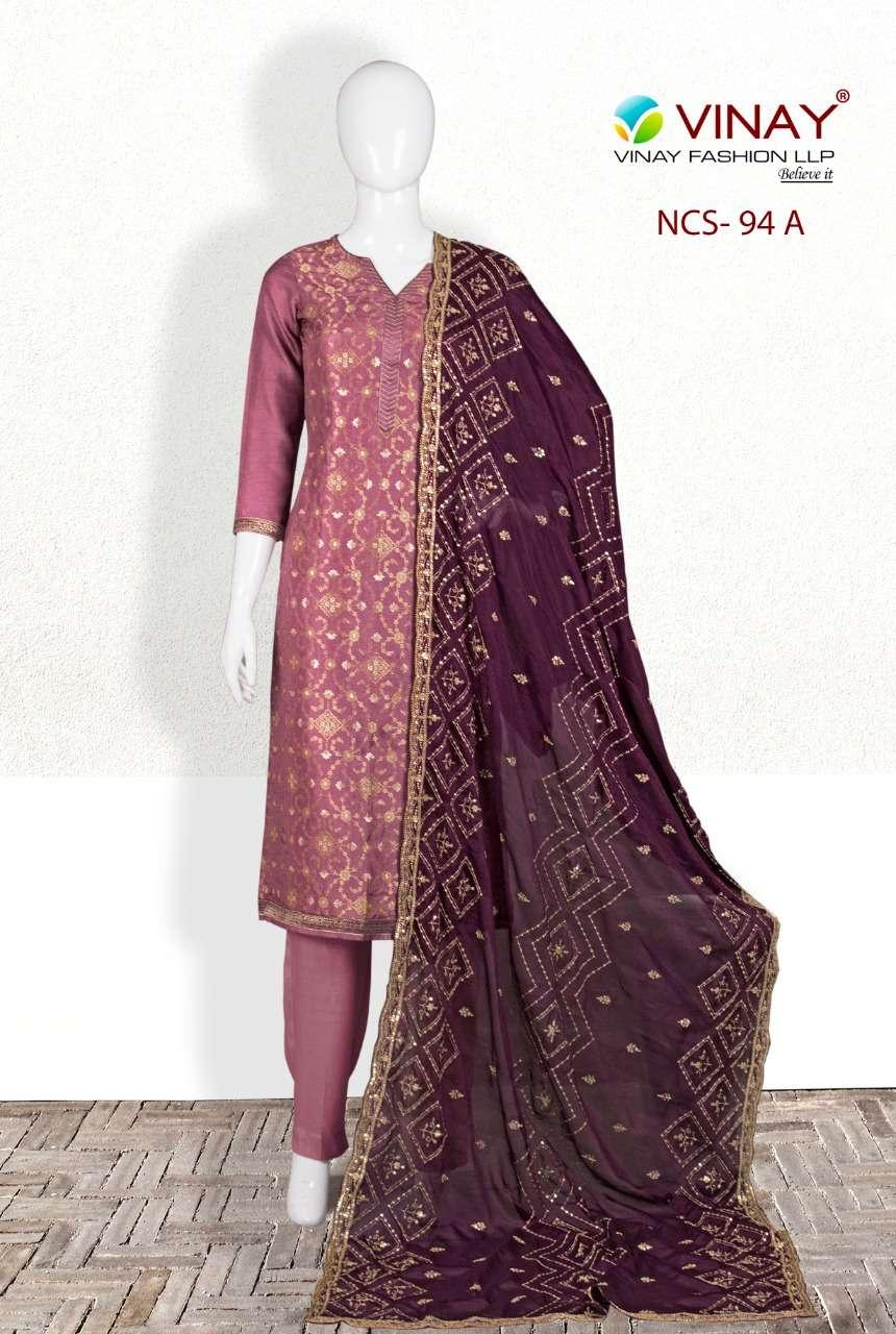 Vinay NCS 94 Dola Jacquard Partywear Suit Wholesale