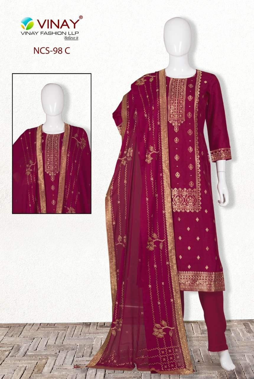 Vinay NCS 98 Dola Jacquard Salwar Suits In Best Price