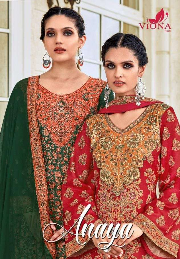 Viona Anaya Designer Print pashmina Winter Wear Collection at Best rate