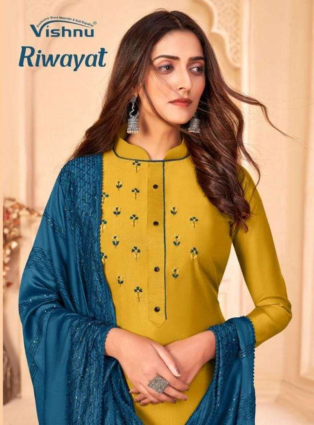 Vishnu Impex Riwayat Exclusive Casual Salwar kameez Catalog Wholesale Supplier