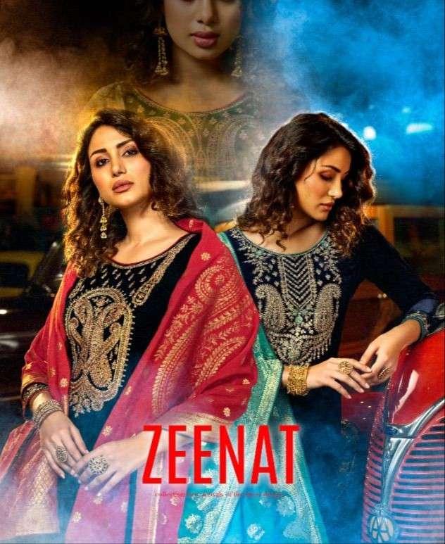 Zeenat Designer Velvet Winter Wear Salwar Kameez Catalog Wholesaler