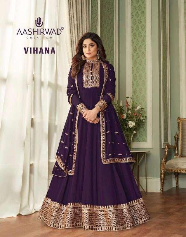 Aashirwad Vihana Exclusive Ready To Wear Anarkali Dress Catalog Wholesaler