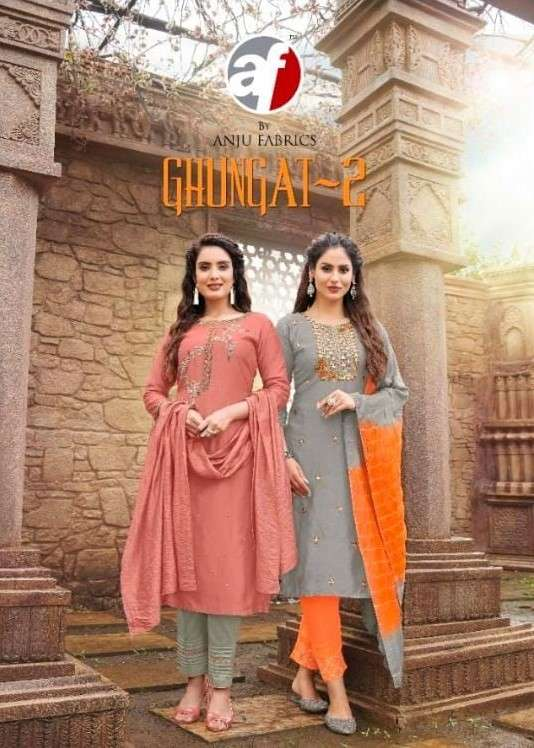 AF Stock Out Ghunghat Vol 2 by Anju Fabrics Stylish Readymade 3 Piece Set Collection
