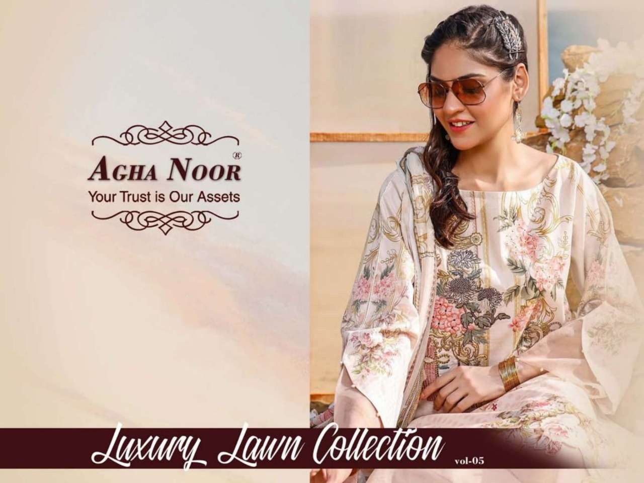 Agha Noor Vol 5 Luxury Lawn Collection Wholesale Price Dealer