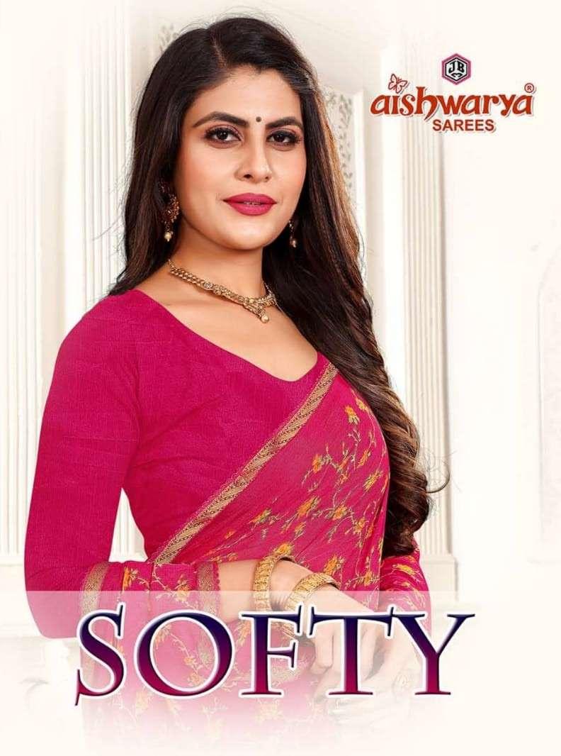 Aishwarya Softy Fancy Chiffon Saree Catalog Supplier